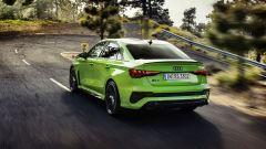 Nuova Audi RS3 Sedan: visuale di 3/4 posteriore