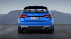 Nuova Audi RS3 Sportback 2017: vista posteriore