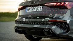 Nuova Audi RS3 Sportback 2021: gli enormi scarichi posteriori
