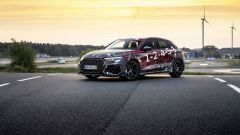 Nuova Audi RS3 Sportback 2021: visuale di 3/4 anteriore