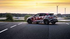 Nuova Audi RS3 Sportback 2021: visuale di 3/4 posteriore