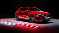 Nuova Audi RS3 Sportback: visuale di 3/4 anteriore