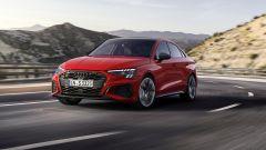 Nuova Audi S3 Sedan: visuale di 3/4 anteriore