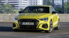 Nuova Audi S3 Sportback: visuale anteriore da ferma