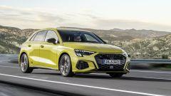 Nuova Audi S3 Sportback: visuale di 3/4 anteriore