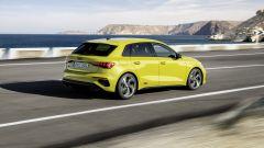Nuova Audi S3 Sportback: visuale di 3/4 posteriore