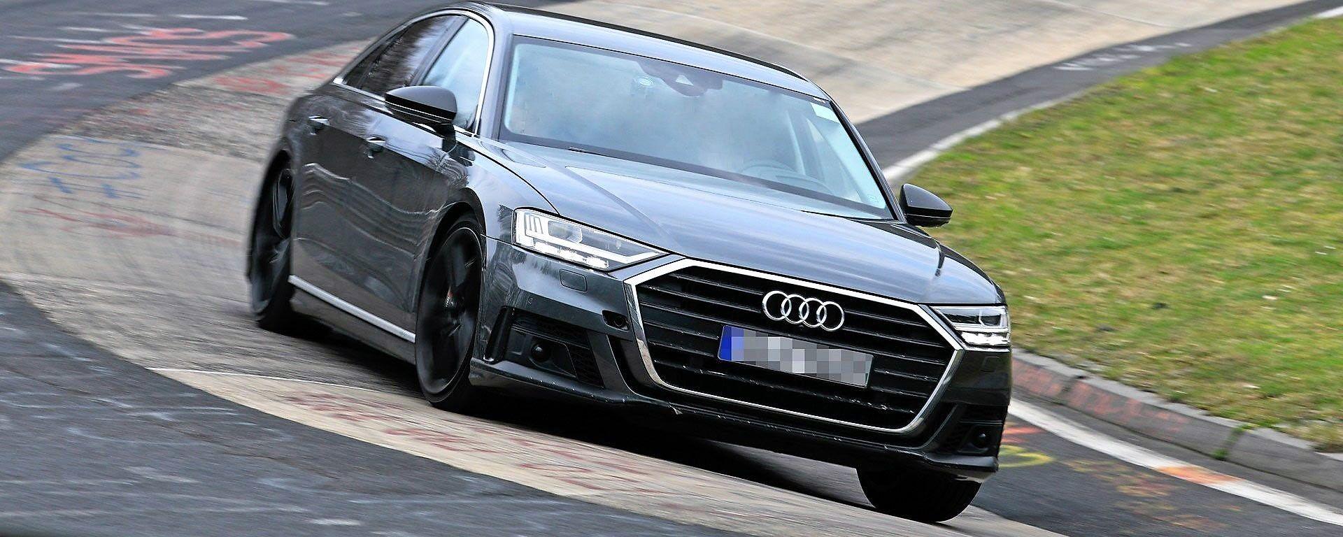 Nuova Audi S8 2019: vista 3/4 anteriore