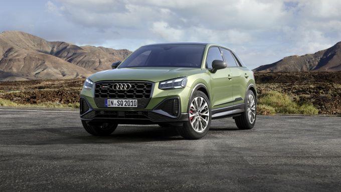 Nuova Audi SQ2: visuale di 3/4 anteriore