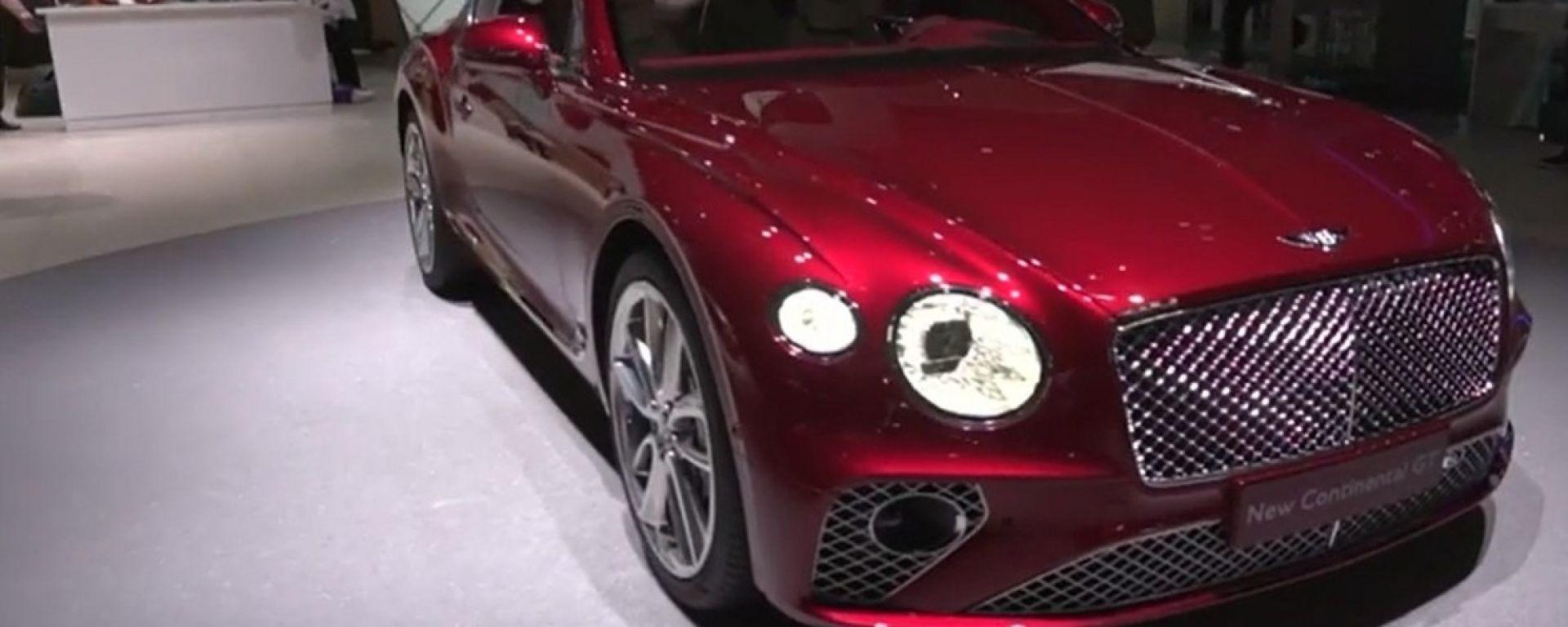 Nuova Bentley Continental GT 2018: lusso e tecnologia al top