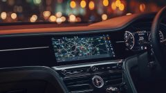 Nuova Bentley Flying Spur V8: il display a scomparsa (vedasi foto successiva)