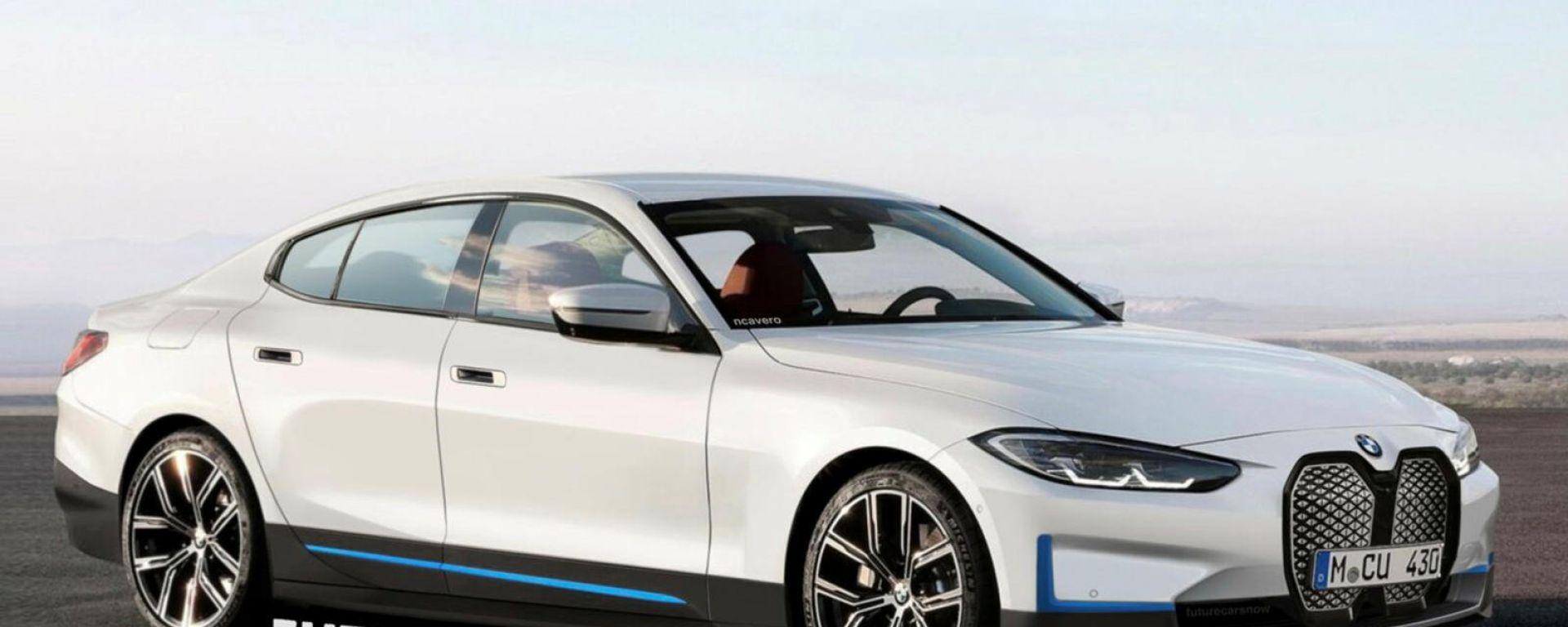 Nuova BMW i4: il rendering più attendibile della berlina elettrica tedesca