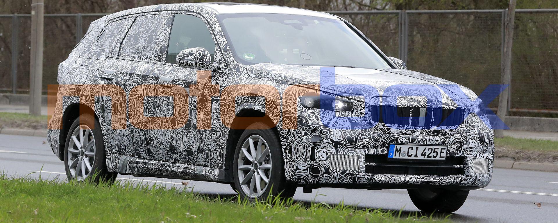 Nuova BMW iX1: il prototipo del SUV compatto tedesco 100% elettrico