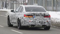 Nuova BMW M3 2019: vista 3/4 posteriore