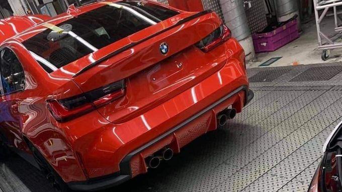 Nuova BMW M3: il posteriore