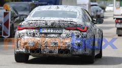 Nuova BMW M4: visuale posteriore