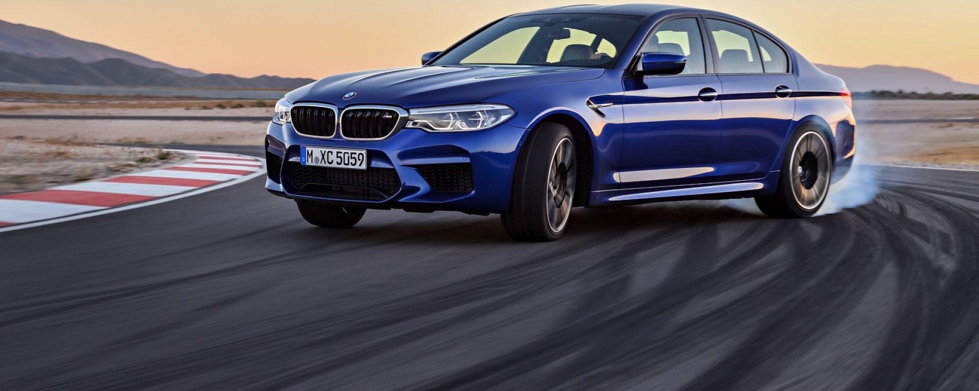 Nuova BMW M5 2018, avrà anche il Competition Package