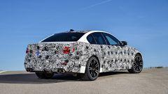 Nuova BMW M5: vista 3/4 posteriore