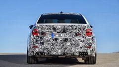 Nuova BMW M5: vista posteriore