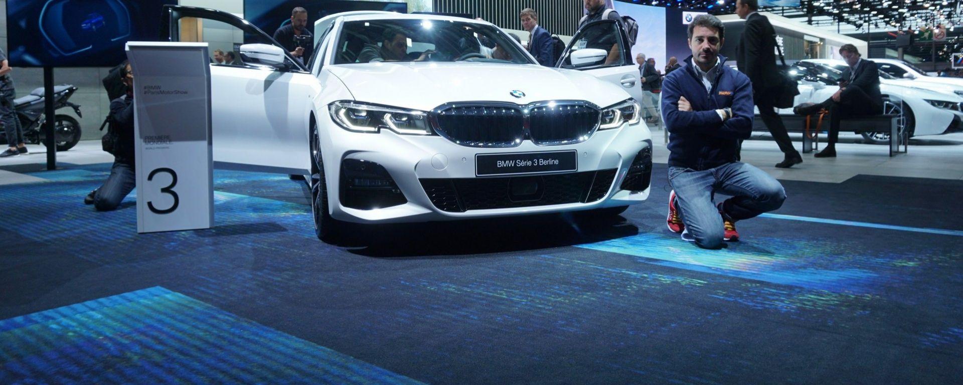 Nuova BMW Serie 3: in video dal Salone di Parigi 2018