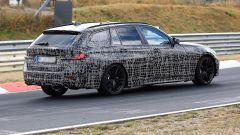 Nuova BMW Serie 3 Touring 2019: vista 3/4 posteriore