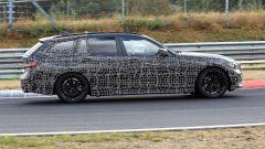 Nuova BMW Serie 3 Touring 2019: vista laterale