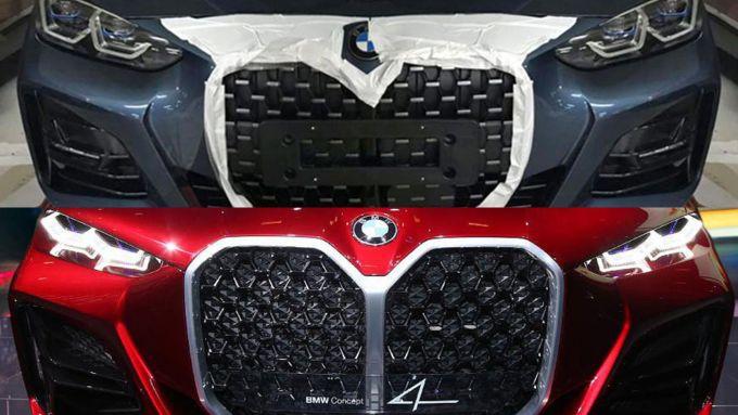 Nuova BMW Serie 4 vs BMW Concept 4, frontali a confronto