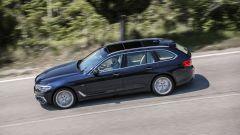 Nuova BMW Serie 5 Touring: vista dall'alto