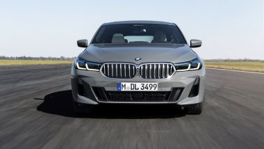 Nuova BMW Serie 6 GT 2020: visuale frontale