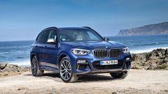 Nuova BMW X3 2017: 3/4 anteriore