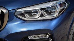 Nuova BMW X3 2017: dettaglio faro anteriore