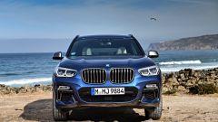 Nuova BMW X3 2017: frontale