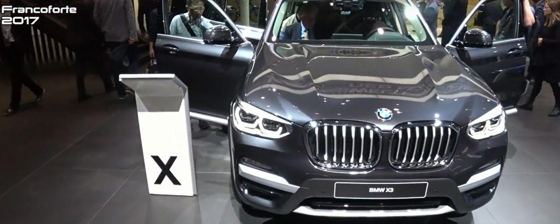 Nuova BMW X3: 4,71 metri di SUV per il Salone di Francoforte