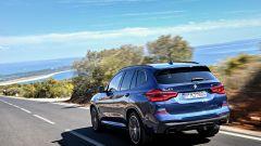 Nuova BMW X3 2017: movimento posteriore