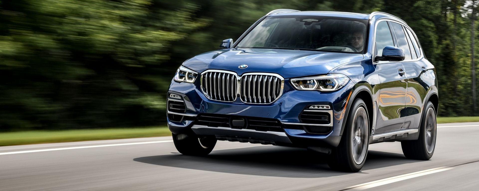 Nuova BMW X5 2018 prova su strada