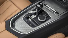 Nuova BMW Z4 roadster 2019, leva cambio e comando iDrive
