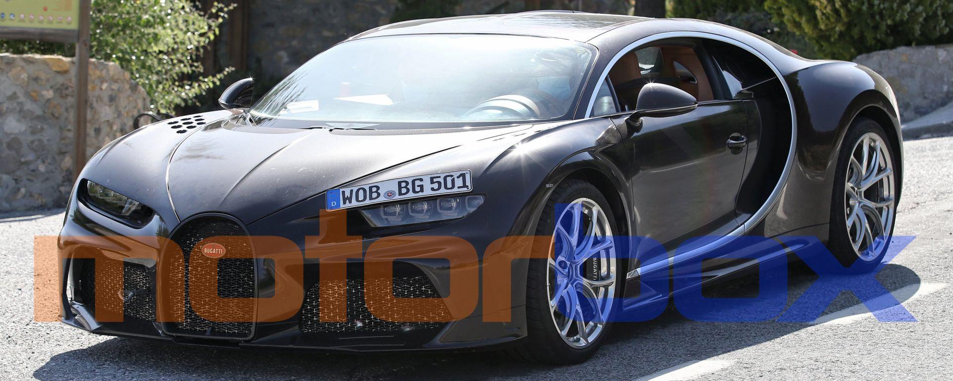Nuova Bugatti Chiron: le foto spia del prototipo
