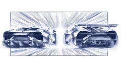 Nuova Bugatti Chiron Super Sport: gli schizzi della coda