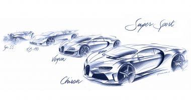 Nuova Bugatti Chiron Super Sport: i bozzetti dei modelli dal primo all'ultimo