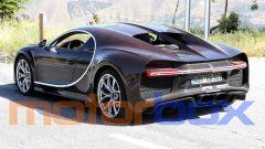 Nuova Bugatti Chiron: visuale di 3/4 posteriore