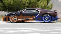Nuova Bugatti Chiron: visuale laterale