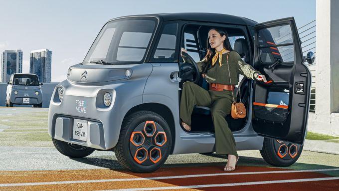 Nuova Citroen AMI: motore da 8 CV e batteria da 5,5 kWh: si muove agile in città