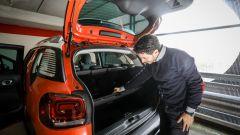 Nuova Citroen C3 Aircross: il ripiano del bagagliaio mobile