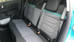 Nuova Citroen C3: il divanetto posteriore ospita comodamente 2 persone