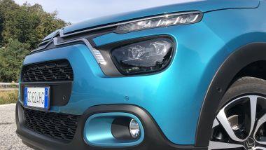 Nuova Citroen C3: un dettaglio dei sensori di parcheggio anteriori