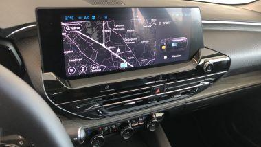Nuova Citroen C5 X: il display da 12'' a sbalzo del sistema multimediale