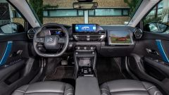 Nuova Citroen e-C4: l'abitacolo uguale alle versioni benzina e diesel molto ben rifinito