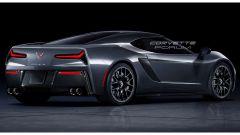 Nuova Corvette C8: rendering del posteriore da Corvette Forum
