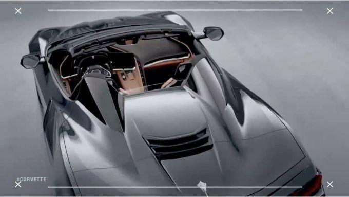 Nuova Corvette Convertible 2020: dettaglio del lato B