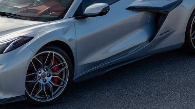 Nuova Corvette Z06: dettaglio della fiancata