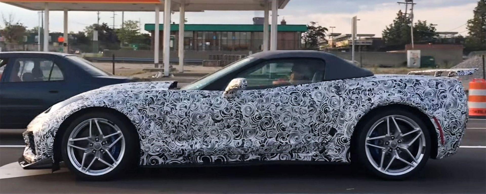 Nuova Corvette ZR1 Convertible: la foto spia
